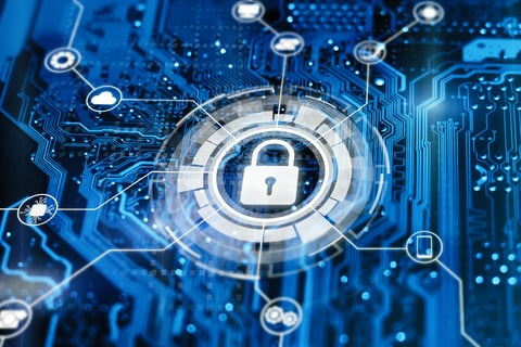 Cybersecurity digital concept image
