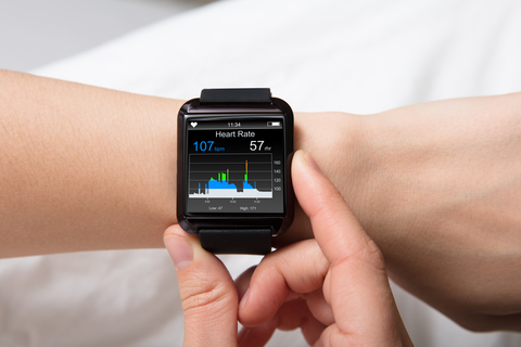 Heart rate monitor on smart watch