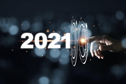2021 Forecast hand touching pass through infographic