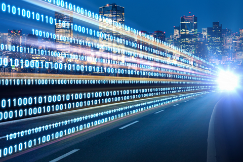 Smart city intelligent building automation with binary code