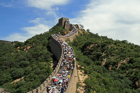 Great Wall of China with crowd