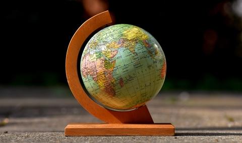 Globe earth world map