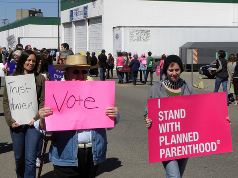 Planned Parenthood rally