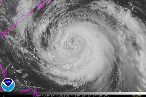 Satellite photo of Hurricane Maria as of Monday morning