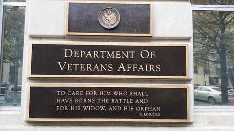 Veterans affairs sign