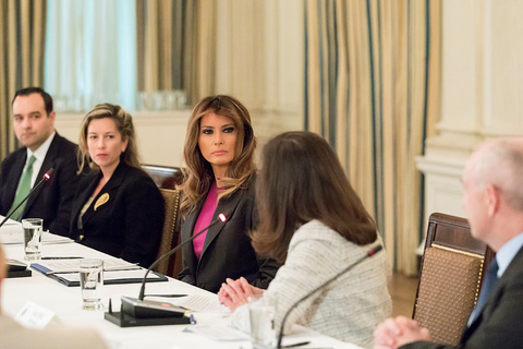 Melania Trump meets with cybersecurity experts