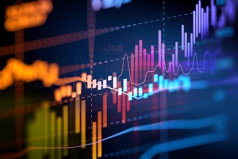 Finance earnings stock ticker graph