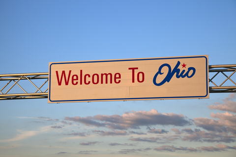 """Sign that says """"welcome to Ohio"""""""