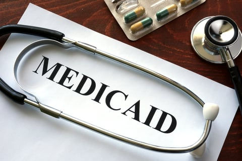 Medicaid on paper and a stethoscope