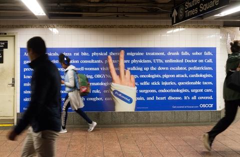 Oscar Health billboard