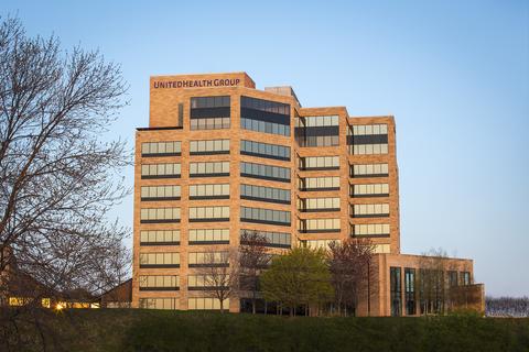 The outside of UnitedHealth Group's headquarters