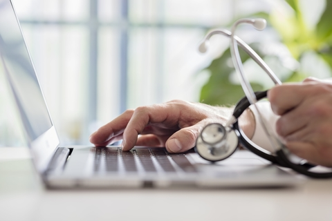 Doctor computer medical records