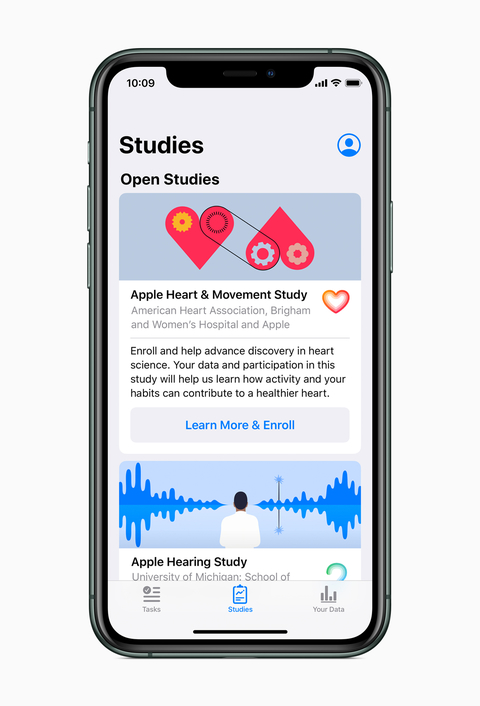 screenshot of Apple's Research app for the Apple Watch