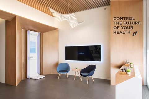 A look at a lobby inside a Forward primary care office
