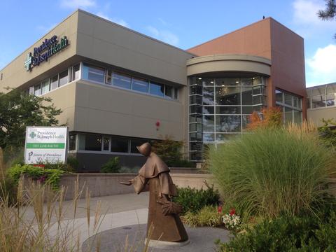 photo showing exterior of Providence St. Joseph Health hospital