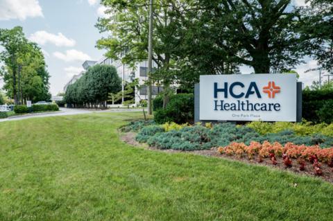HCA Healthcare's sign