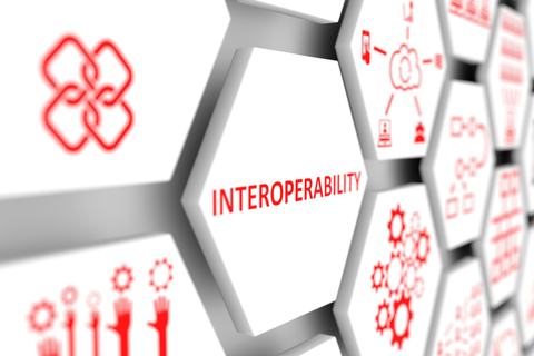 3D illustration of interoperability