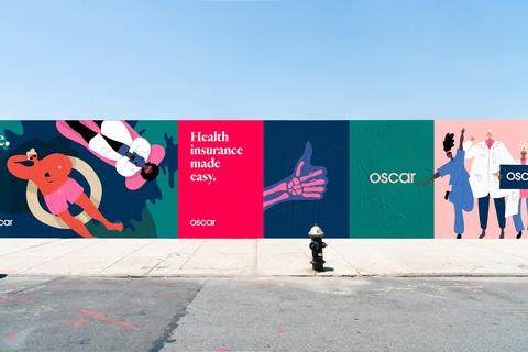 A photo of a billboard for Oscar Health