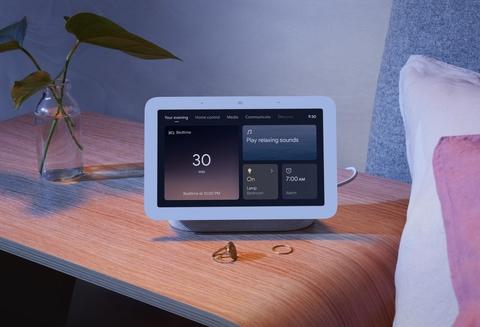 Google Nest Hub smart display showing sleep tracking technology