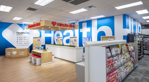 a HealthHUB location inside a CVS Pharmacy store