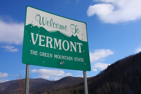 """sign that says """"welcome to vermont"""""""