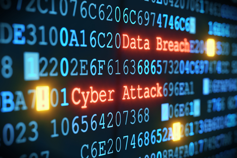 An illustration of a cyber attack or data breach