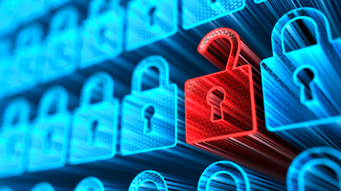 Concept of a digital Lock. Cyber internet security and privacy concept.