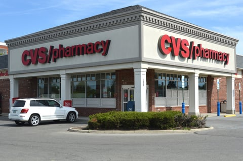 The front entrance of a CVS Pharmacy