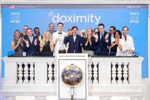 Doximity executives ring the opening bell at NYSE