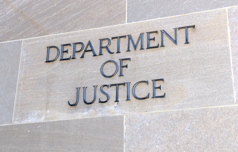 The Department of Justice building