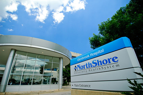 An image of an exterior sign outside a Northshore Health facility