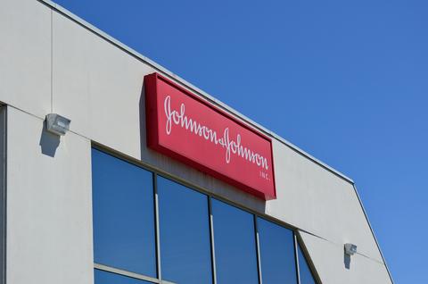 J&J logo on building