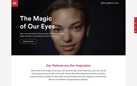 Expanding J&J Vision's new corporate site launches with a