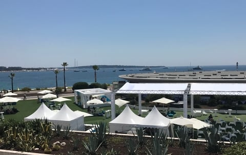 Cannes Lions Health tents outside scene 2018