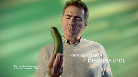Endo TV ad still for Peyronie's disease awareness