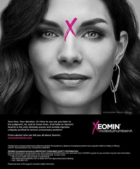 Merz ad for Xeomin