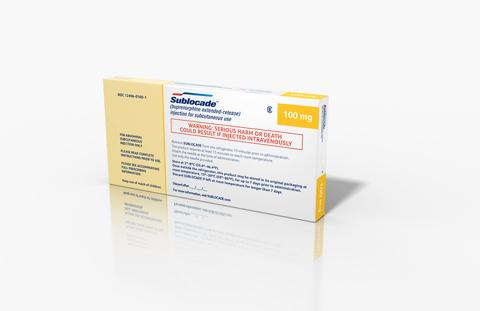 Indivior Sublocade opioid use disorder treatment box