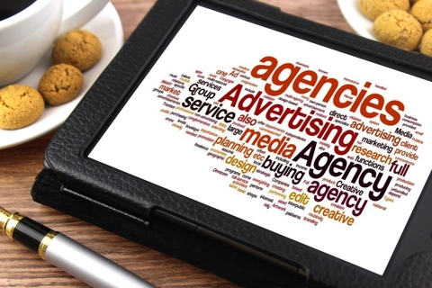 Advertising agency word cloud image