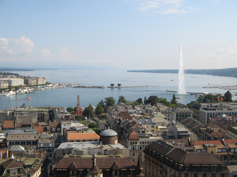 Fountain on Lake Geneva