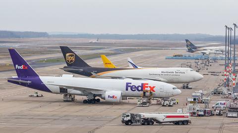 FedEx, UPS, DHL planes