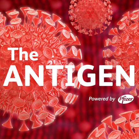 Pfizer podcast cover for The Antigen