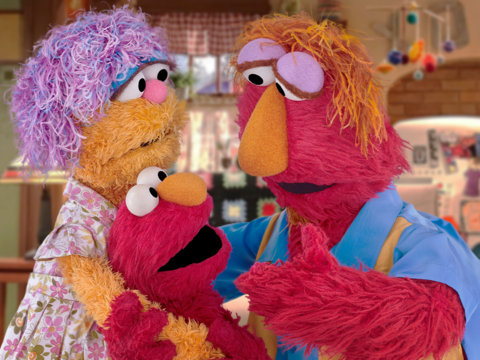 Sesame Workshop Elmo and family for Mylan donation