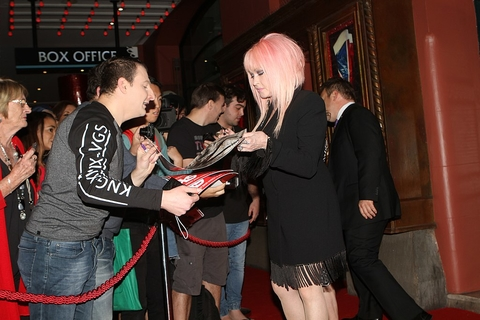 Cyndi Lauper singer songwriter in 2017 at a Kinky Boots premier