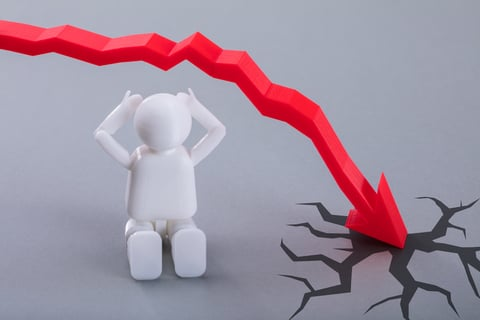 Job Market crash trend diagram generic