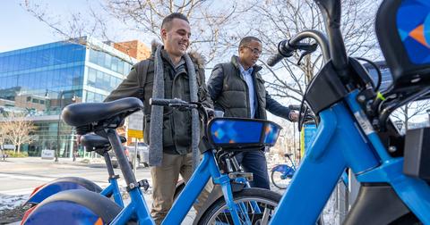 Biogen employees on bikes/fossil fuel plan announced