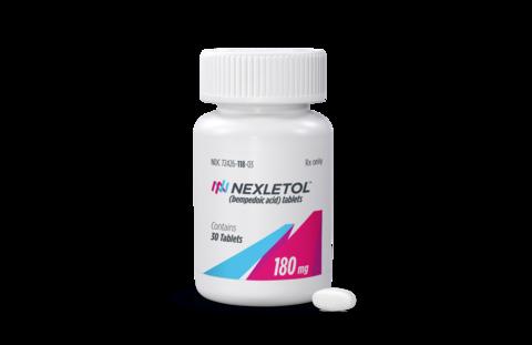 Esperion cholesterol med Nexletol bottle