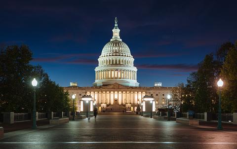Congress at night