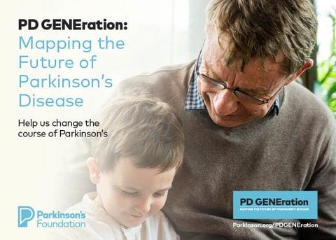Sanofi and Parkinson's Foundation gene study recruitment card