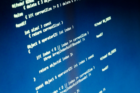 Software code on computer screen