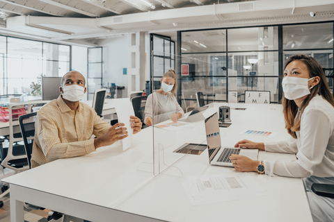 Diverse Workplace with Masks